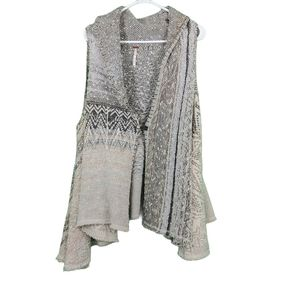 Free People In Your Arms Boho Wool Cardigan Vest S